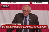 Bernie Sanders addresses Iowa event