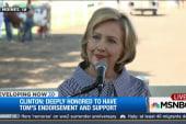 Hillary Clinton speaks at Iowa State Fair