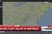 Major flight delays in Northeast