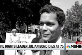 Civil rights leader Julian Bond dies at 75