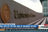 Trial date set for Cincinnati officer