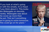 Trump blasts Clinton in new interview