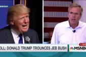 Trump, Bush trade shots during NH town halls