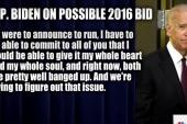 Biden breaks silence on 2016 speculation