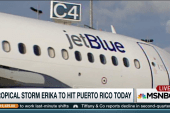 Airlines prepare for Tropical Strom Erika