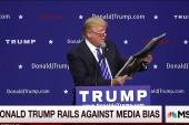 Trump rails against media bias