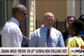 Obama sings 'Movin' On Up' in New Orleans