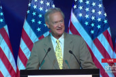Lincoln Chafee addresses DNC meeting