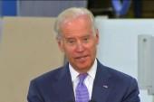 Biden makes surprise visit at Democrats event