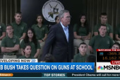 Bush responds to student question on guns