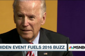 Joe Biden holds first public event
