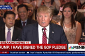 Trump pledges to forgo 3rd party run