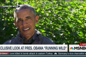 Watch Obama eat bear-chewed salmon