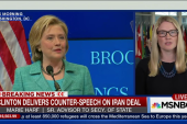 Clinton delivers counter-speech on Iran deal