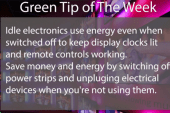 Green Tip: Unplug your electronics