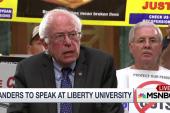 The unusual event on Bernie Sanders' calendar