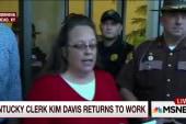 Kim Davis returns to work