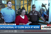 Clerk Kim Davis returns to work