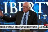 Sanders talks Christian values at Liberty U.