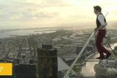 Australian tightrope walker breaks record
