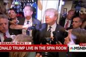 Trump happy with debate performance