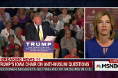 Trump Iowa chair on anti-Muslim questions
