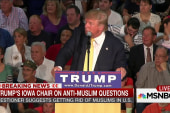 Trump faces 2 Muslim training camp questions
