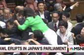 Brawl erupts in in parliament