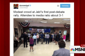 Jeb's campaign crowd size lacking post-debate