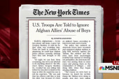 US soldiers ignore Afghan sexual abuse:...