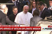 Pope arrives at Vatican diplomatic mission
