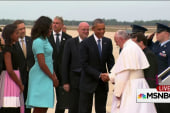 Pope met with joyous reception at US arrival