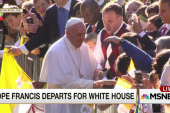 Pope Francis departs for the White House