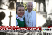 Student takes a 'selfie' with the Pope
