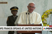 Pope Francis addresses the UN staff