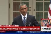 Pres. Obama responds to Boehner resignation