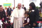 Pope Francis, children play with touchscreen