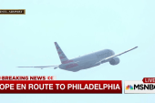 Pope Francis takes off for Philadelphia