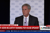 McCarthy running for house speaker