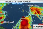 Tropical storm Joaquin gains strength