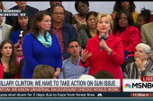 Clinton emotional with Sandy Hook mother