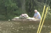 Pastor retrieves floating casket