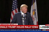 Donald Trump holds rally in Iowa