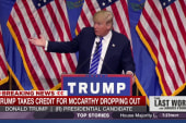 Trump takes credit for McCarthy dropping out