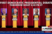 Dems to debate for first time tomorrow