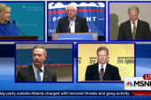 Five candidates on stage in Vegas for Dem...