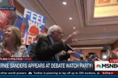 Sanders meets with supporters after debate