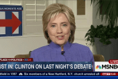 Clinton weighs in on Tuesday's debate