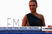 Actress battles postpartum depression
