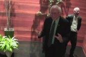 Sanders has happy feet after first debate